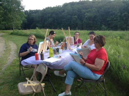 -Autumn Landscape Painting at Bent of the River-  (Class meets at Bent of the River on East Flat Hill Rd. in Southbury)