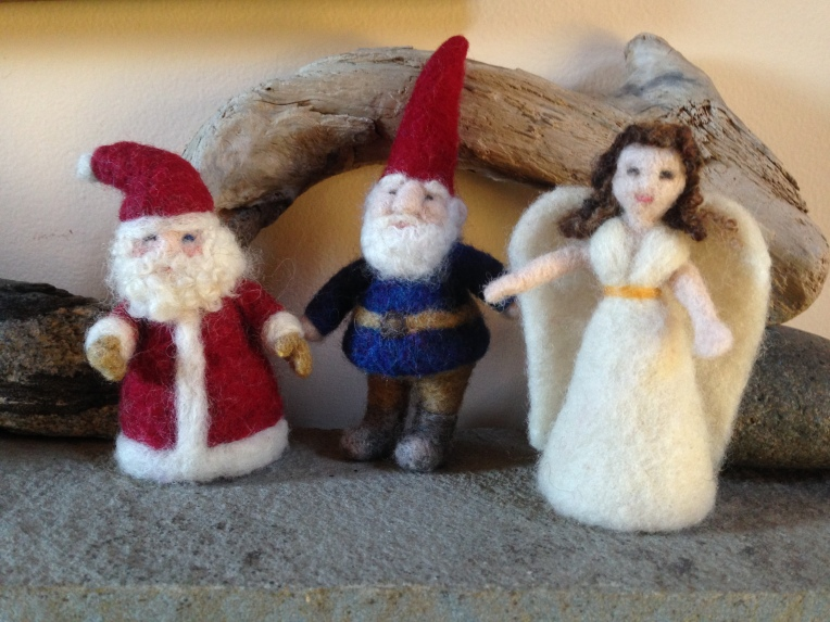 Needle Felting: ANGELS, SANTAS, OR GNOMES- Sunday, December 7th from 1-4 PM ($45)