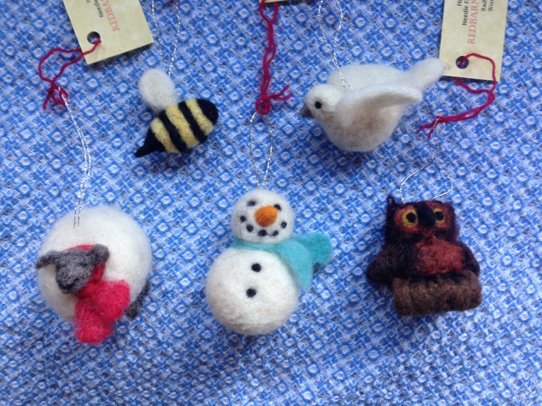 Needle Felting: ORNAMENT NIGHT- (set of three ornaments) Thursday, December 4th at 6:30 PM ($40) (your choice)