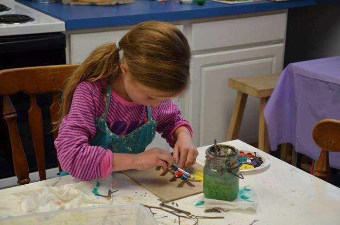 *Woodland Arts  Fridays from 5:30-6:30 PM  January 2, 9, 16, and 23th This January lets make Woodland Art!!! Kids will create a beautiful woodland forest, make woodland animals, decorate mushroom sculptures, and create a mixed medium forest painting with animals collage! SOOOO Much Fun! Great for kids who love the forest and animals! Friday Nights in January $65 plus $16 supply fee. (All ages welcome)