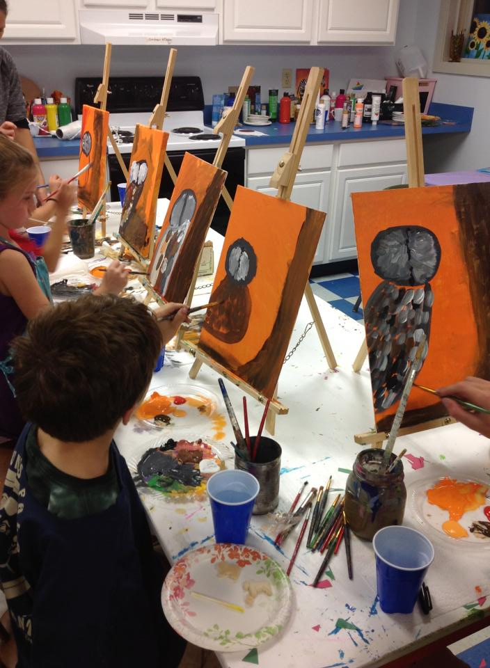 Friday, November 14th  from 7-9 PM (for kids)   Kids Guided  Paint Nights!
